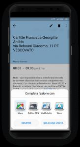 Integrazione smartphone, sistema di navigazione